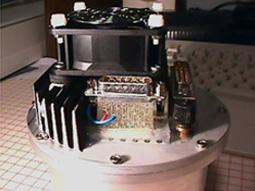 Photo de la caméra équipé de son radiateur