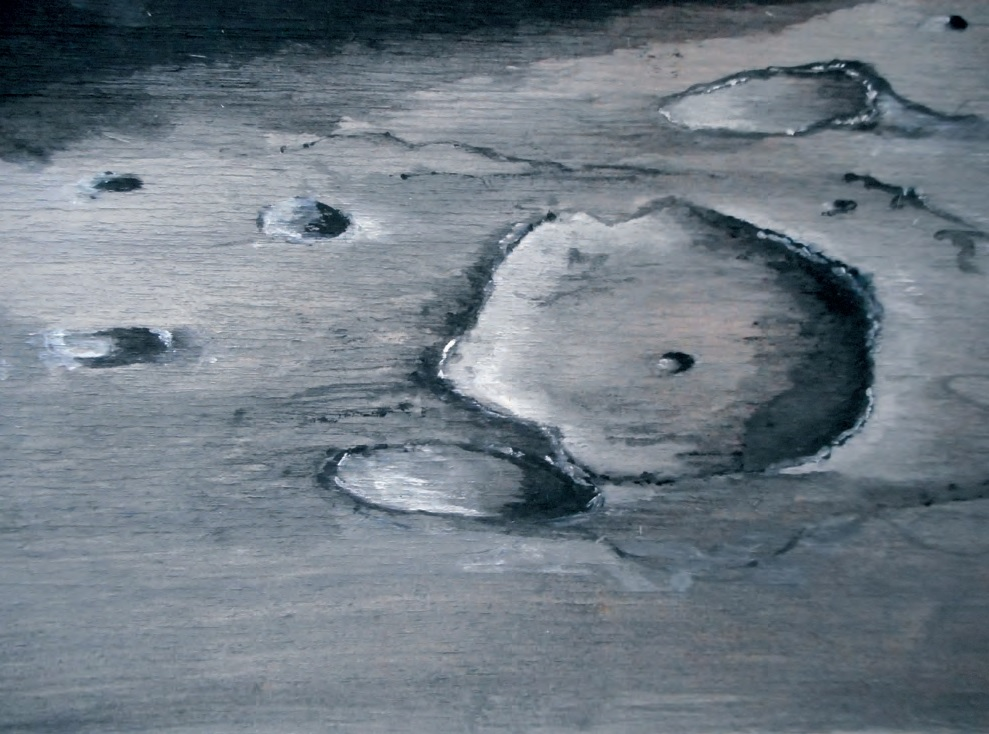 Dessin d'un cratère d'impact 2, Robert Gangloff