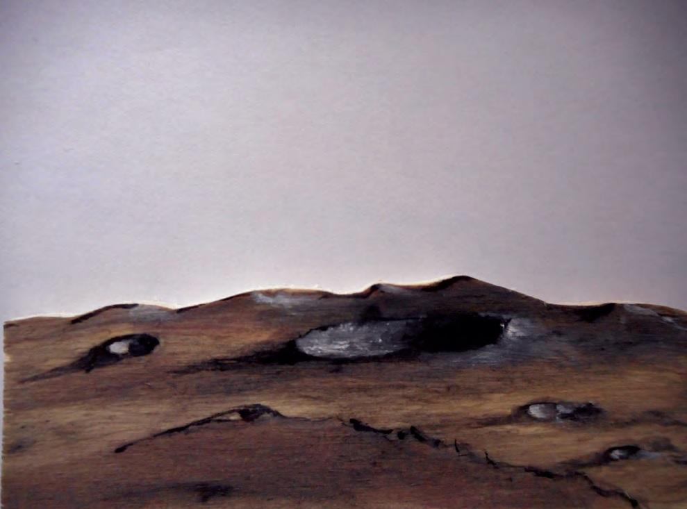 Dessin d'un cratère d'impact, Robert Gangloff