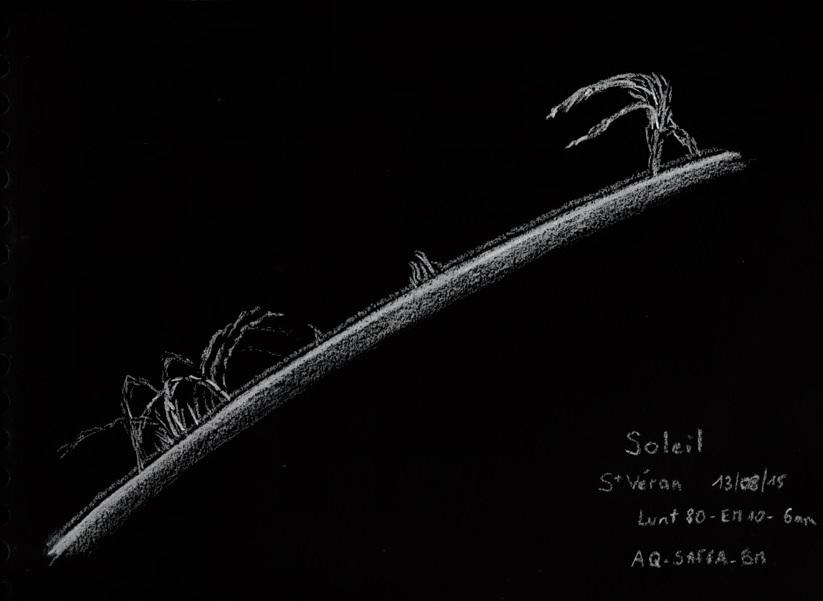 Protubérances solaires, Benoit Zeller