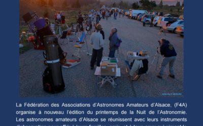 Nuit de l'astronomie au Champ du feu, 13 avril 2019 dès 16 H