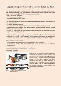 dossier sur la protection des yeux durant l'observation du soleil